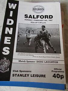 Widnes v Salford programme 8287 - <span itemprop=availableAtOrFrom>Warrington, Cheshire, United Kingdom</span> - Widnes v Salford programme 8287 - Warrington, Cheshire, United Kingdom