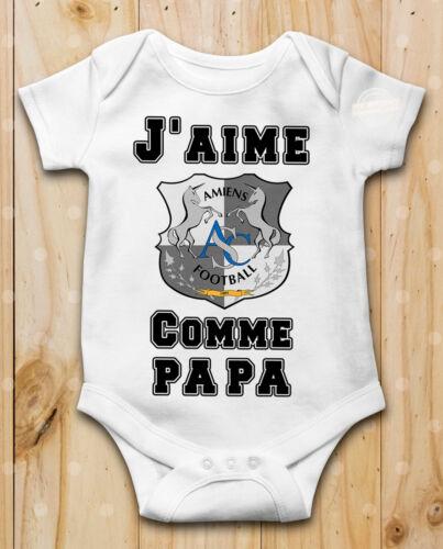 Body bébé J aime Amiens SC  Comme papa Manche Courte ou Longue