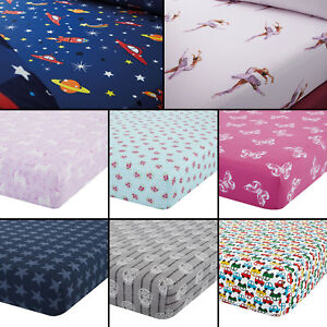 Image Is Loading Catherine Lansfield Colourful Childrens Kids Fitted Bed  Sheets
