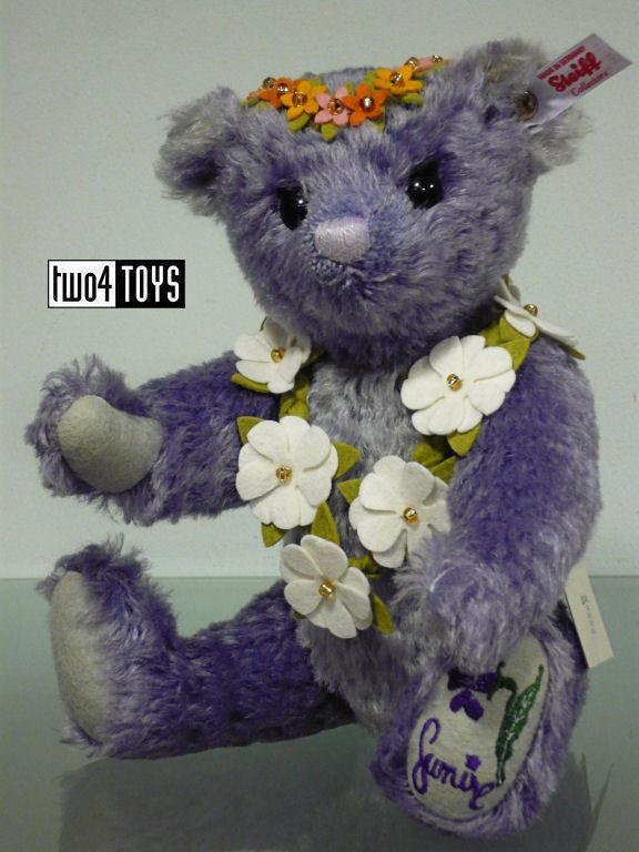 STEIFF JAPAN SUMIRE TEDDY BEAR - LAVENDER 28cm/ 11in. EAN 677885 RETIrosso