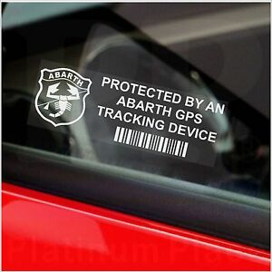 5-x-ABARTH-GPS-Tracking-Device-Security-Stickers-Car-Alarm-Warning-Tracker-Signs
