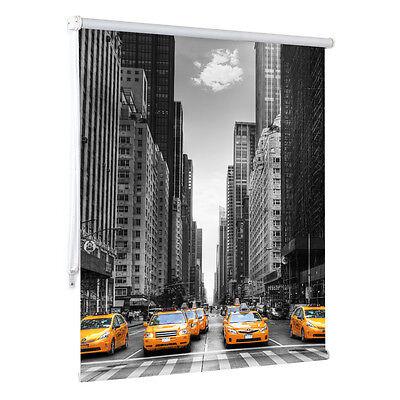 "Fotorollo Tageslicht Motiv ""New York Taxi"" Rollo Amerika bedrucken Digitaldruck"