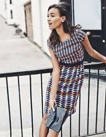 BODEN Brand New Women's  Kensington Dress WH784  38% SILK RRP£99 SIZE 8L