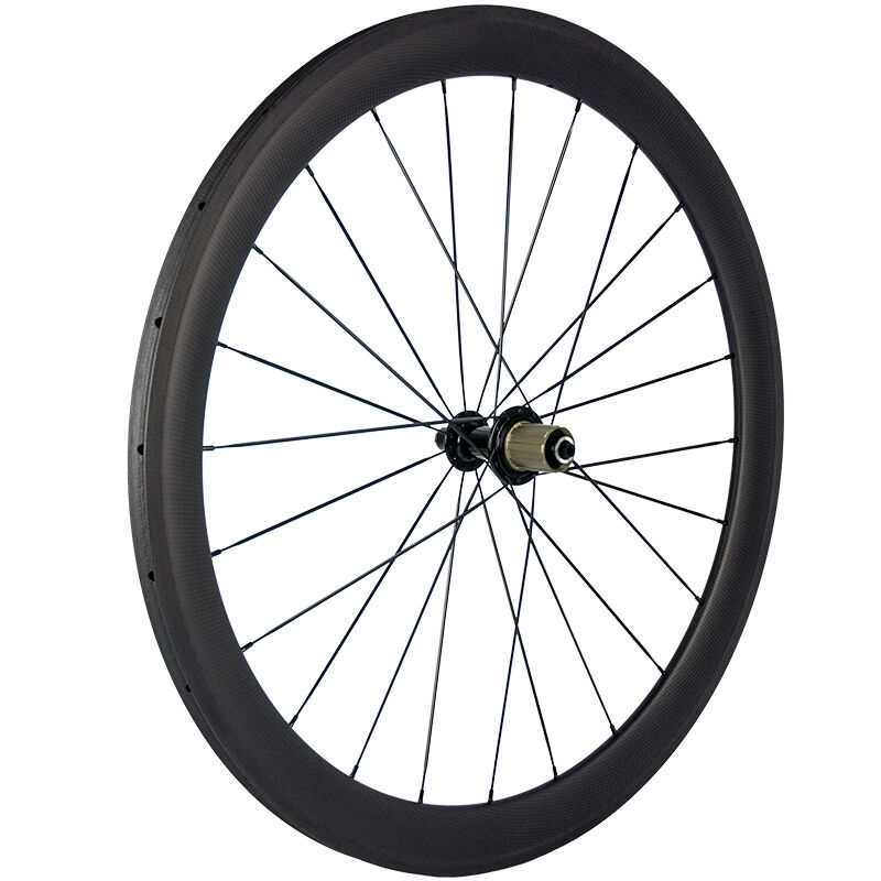700C 23mm width 50mm depth Aero carbon tubular rear  wheels 11s hub  after-sale protection