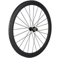 700c 25mm Width 50mm Depth U Shape Carbon Tubular Rear Wheel With 11s Hub 3k