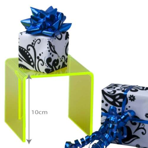 PERSPEX®//Acrylic 10cm three sided stand-green Retail Display//Gift Shop//Museum