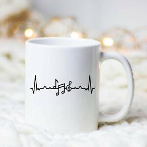 Heartbeat Music Mug Music Mug Music Gift Gift For Music Teacher Musician Mug
