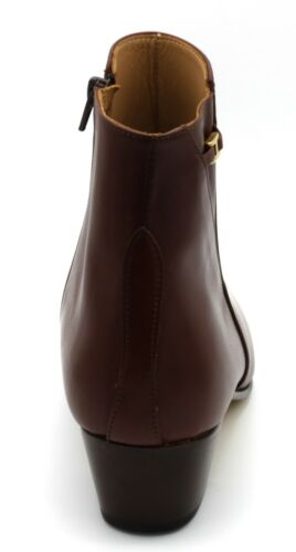 Uomo Tronchetto Marrone Scarpe Boots Pelle Stivaletti 44 Eleganti wAYRR6E5q