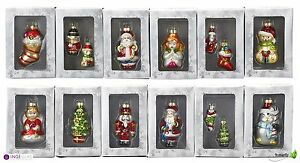 6er set christbaumschmuck glas kugeln figuren weihnachtsschmuck christbaumkugeln ebay. Black Bedroom Furniture Sets. Home Design Ideas