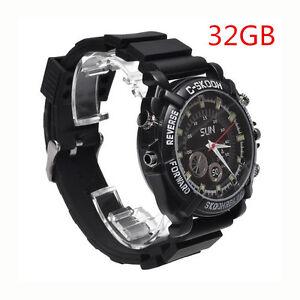 81953800e67 32GB Spy HD Video Wrist Watch Camera 1080P Hidden DV DVR Waterproof ...