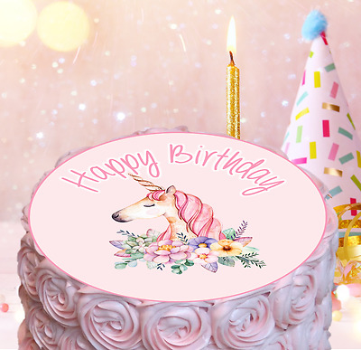 Happy Birthday Baby Girl Cake Topper Edible Decorations 1st Bear Personalized UK