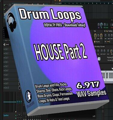 House Drum Loops Part 2 FL Studio Ableton Cubase Logic Pro