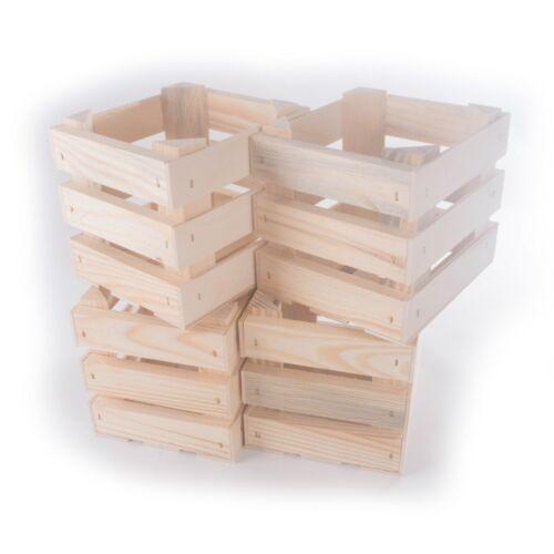Small Square Wooden Crate Display Shelf Retail Present Box Plain Wood DIY