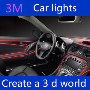 led car interior wire rope dash ambient footwell strip light lightiing 5 meters ebay. Black Bedroom Furniture Sets. Home Design Ideas