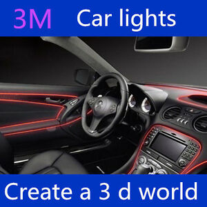 el led car interior flexible dash ambient footwell strip light show lightiing ebay. Black Bedroom Furniture Sets. Home Design Ideas