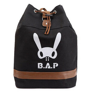 B.A.P BAP KPOP BLACK CANVAS BAG BACKPACK NEW FREE SHIPPING