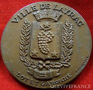 MED2492-MEDAILLE-VILLE-DE-LAYRAC-par-TORCHEUX-FRENCH-MEDAL
