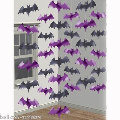 Halloween Haunted House Purple Vampire Bats Bat Foil String Strings Decorations