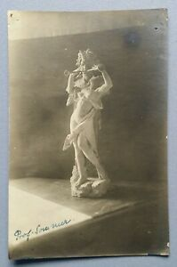 Old-Postcard-Photography-Sculpture-Plastic-Statue-Prof-Summer