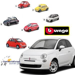 FIAT-500-COLLEZIONE-cinquecento-BURAGO-SCALA-1-43-IN-METALLO-MODELLINO
