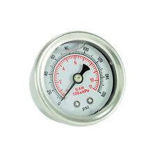 Manometer 11bar Benzindruckregler Universal Anzeige Edelstahl Motorsport 1/8 NPT