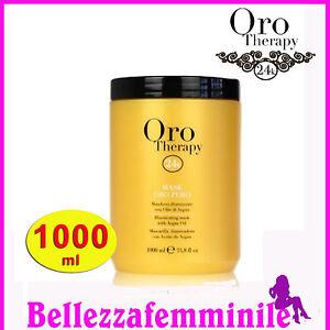 the cheapest large discount 100% top quality Dettagli su Maschera per capelli orotherapy 24k oro puro con olio di argan  1000 ML Fanola