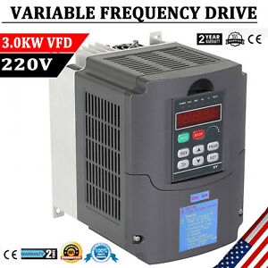 3KW 220V 4HP VFD SINGLE PHASE VARIABLE SPEED DRIVE INVERTER VARIABLE FREQUENCY 860962744189