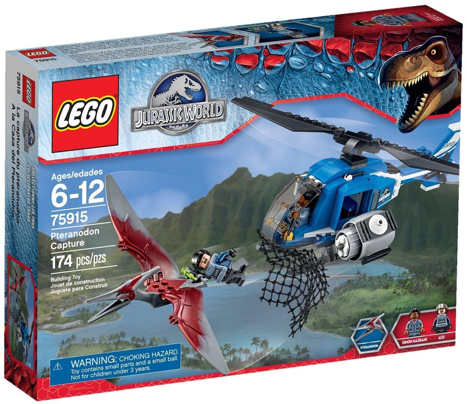 Lego Jurassic World 75915 PTERANODON Capture RARE RETIrouge ✔ Entièrement neuf dans sa boîte ✔ Neuf Scellé ✔