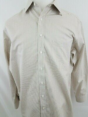 HART SCHAFFNER MARX MEN/'S NON IRON COTTON DRESS SHIRT BLUE//WHITE NWT