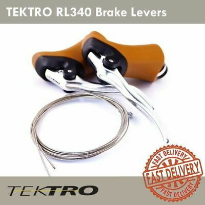 Tektro RL340 Aero Brake Levers with 800mm//2000mm Cable Black Lever//Black Hood