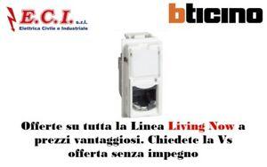 Obligeant Bticino Living Now Kw4279c5e Connettori Rj45 Categoria 5e Utp Suppression De L'Obstruction
