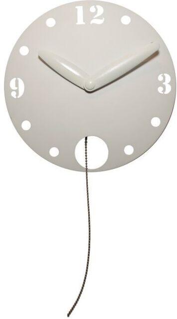 Waggle Orologio da Parete a Pendolo Bianco Tondo 3102 Nextime Ufficio Cucina
