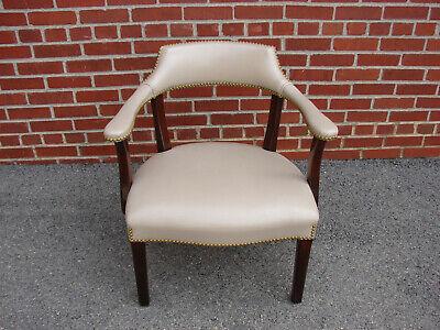 Hancock Amp Moore Mahogany Leather Arm Chair Ebay