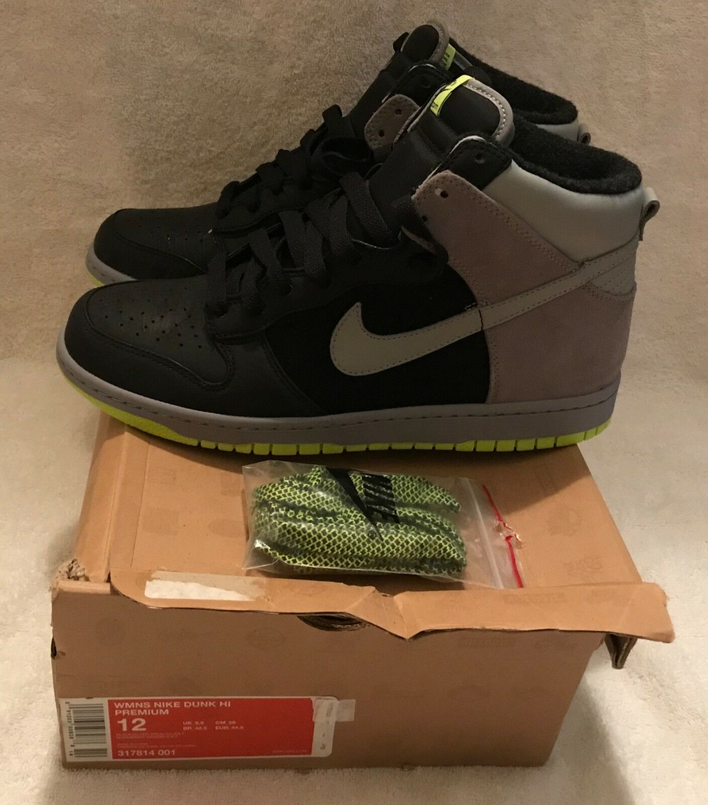 NIKE Women's Dunk Hi Premium Limited Edition Size Size Size US 12 New w Box & 2 sets laces aa1b34