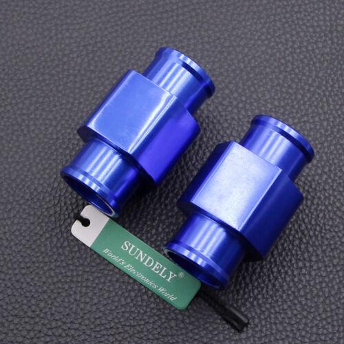 Select Size 2x Alloy Water Temp Gauge Radiator Hose Sensor Adaptor Temperature