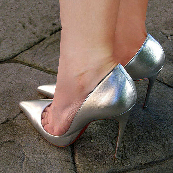 Femme bout pointu et talon haut Clubwear Stiletto Mariage Pompes Escarpins UK2.5-11