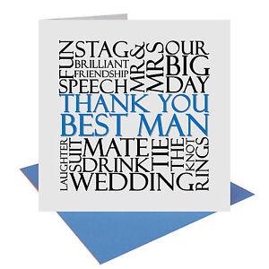 Gracias mejor hombre boda regalo o tarjeta de palabra etiqueta Reino Unido Publica Gratis