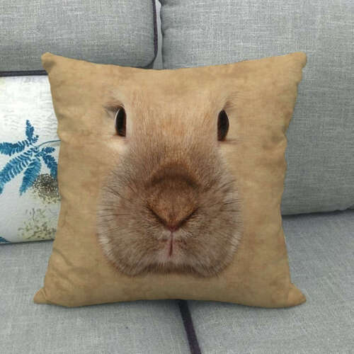 Dog Cat Alternative Printing Pillow Case Cushion Cover Animals Faces Home Decor