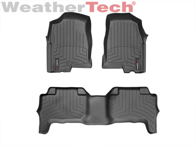 WeatherTech DigitalFit FloorLiner - 2004-2012 - Chevy Colorado Crew - Black