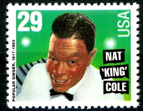 Nat King Cole Mint MNH CRISP US Postage Stamp Scott's 2852