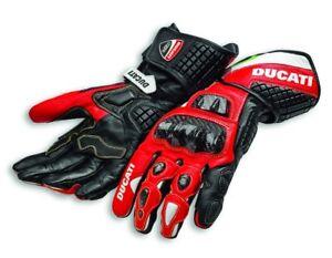 DUCATI-Spidi-CORSE-C3-Racing-Leder-Handschuhe-Gloves-rot-schwarz-NEU