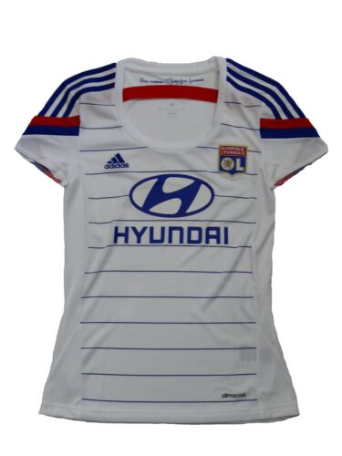 44 Adidas Olympique Lyon Femmes Maillot Jersey taille L