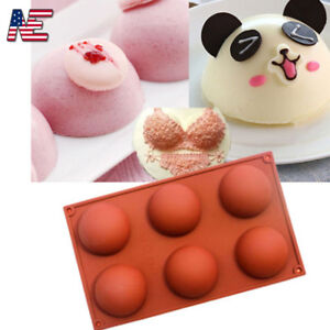 Silicone Half Ball Mould Sphere Baking Mold Bakeware DIY Chocolate Cupcake Cake