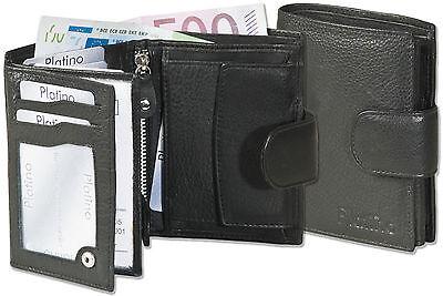 Professioneller Verkauf Platino Geldbörse Aus Bestem Nappa-leder Mit Außenriegel In Schwarz