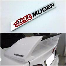 Mugen Logo Aluminium Red Black Part Car Spoiler Badge Emblem Logo For Honda