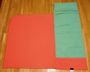 Peach-Coral-amp-Green-Nap-Mat-Kidnapper-w-Built-In-Pillow-amp-Blanket-Preschool-Mat