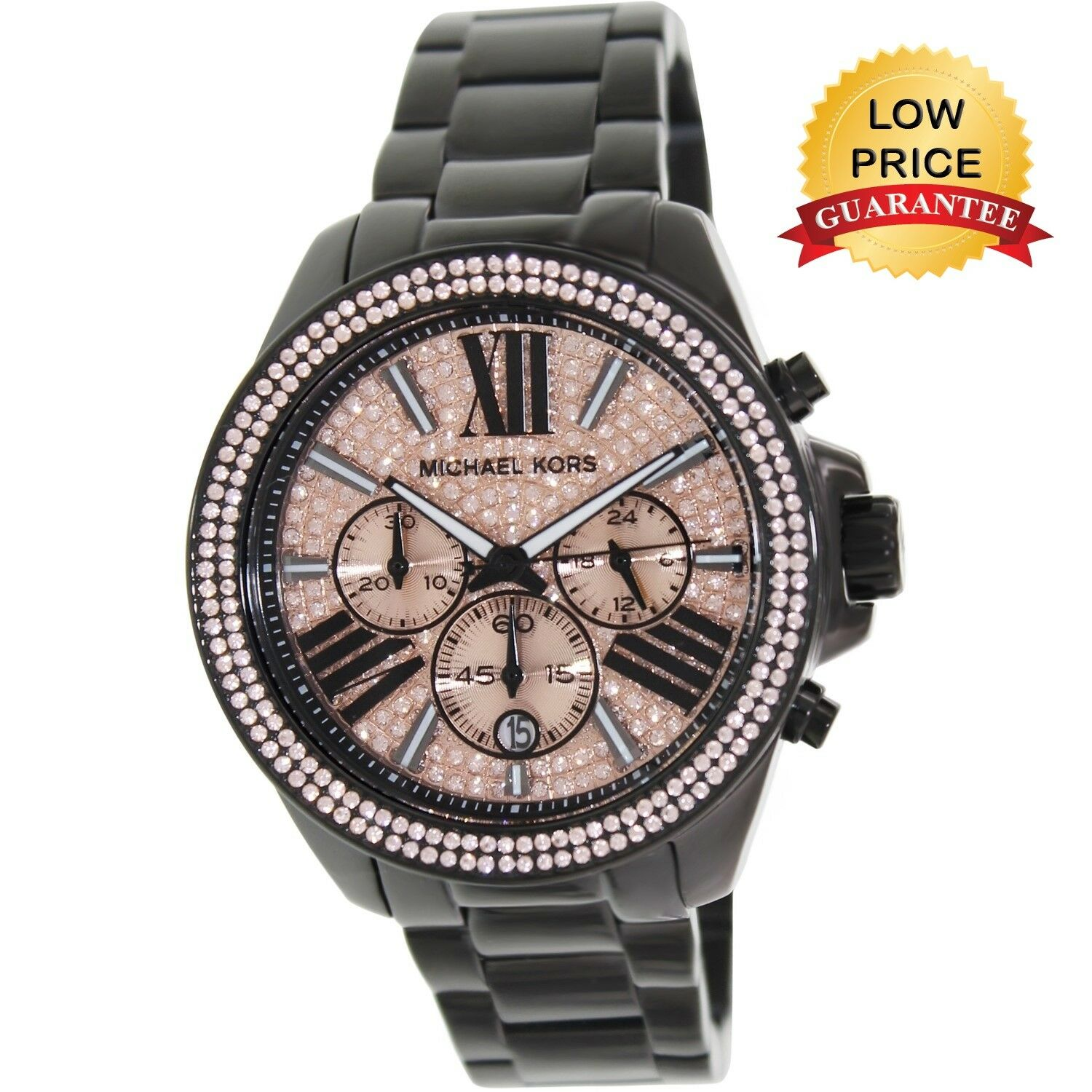Michael Kors MK5879 Pave Chronograph Watch - Black for sale online ... 2ce5bf550534f