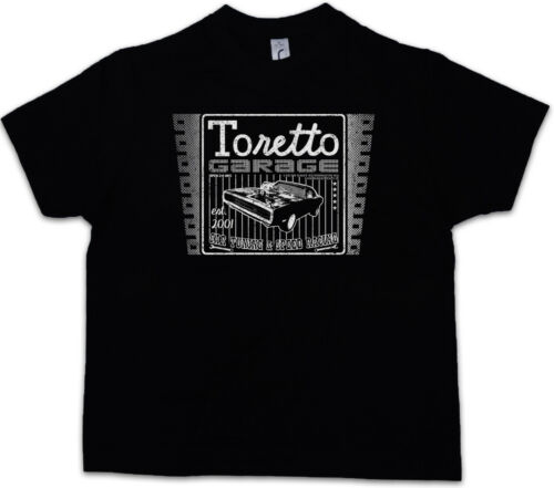 Toretto GARAGE LOGO Bambini Ragazzi T-shirt movie 2 The Fast and the Furious