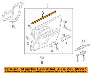 HONDA OEM CR-V-Door Window Sweep-Belt Molding Weatherstrip Left 72450T0GA01