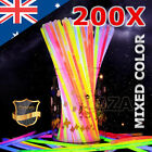 200 Mixed Color Glow Sticks Bracelets Light Party Glowsticks Glow In the Dark